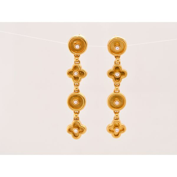 Round & Clover Statement Earrings  Portsches Fine Jewelry Boise, ID