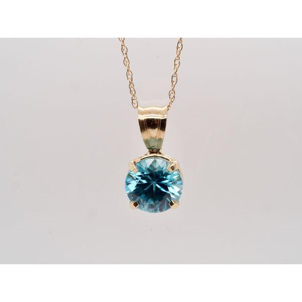 Blue Zircon Pendant Portsches Fine Jewelry Boise, ID