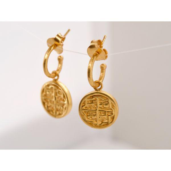 Valencia Hoop & Charm Earring Image 2 Portsches Fine Jewelry Boise, ID