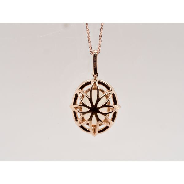 Oval Opal Diamod Halo Necklace  Image 3 Portsches Fine Jewelry Boise, ID