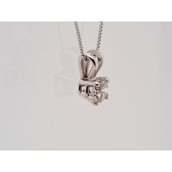 Solitaire Diamond (0.40ct) Pendant  Image 2 Portsches Fine Jewelry Boise, ID