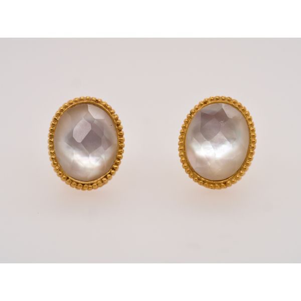 White Crystal Studs  Portsches Fine Jewelry Boise, ID
