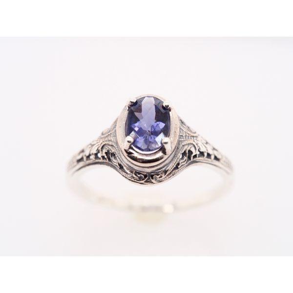 OV037 Tanzanite Silver Ring  Portsches Fine Jewelry Boise, ID