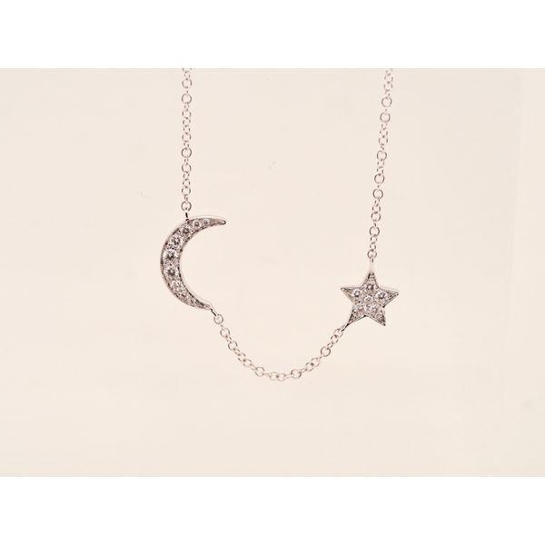 Moon & Star Diamond Necklace  Portsches Fine Jewelry Boise, ID