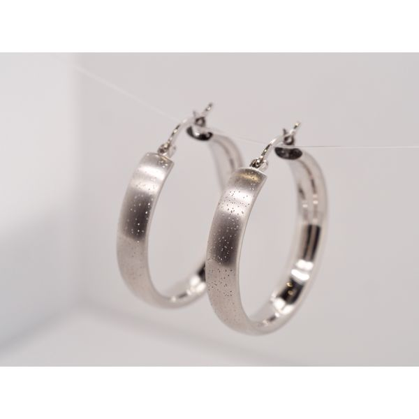 Sterling Silver Hoops  Image 2 Portsches Fine Jewelry Boise, ID