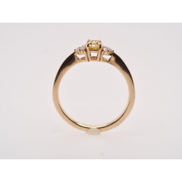 3 Stone Yellow Diamond Center Ring  Image 2 Portsches Fine Jewelry Boise, ID