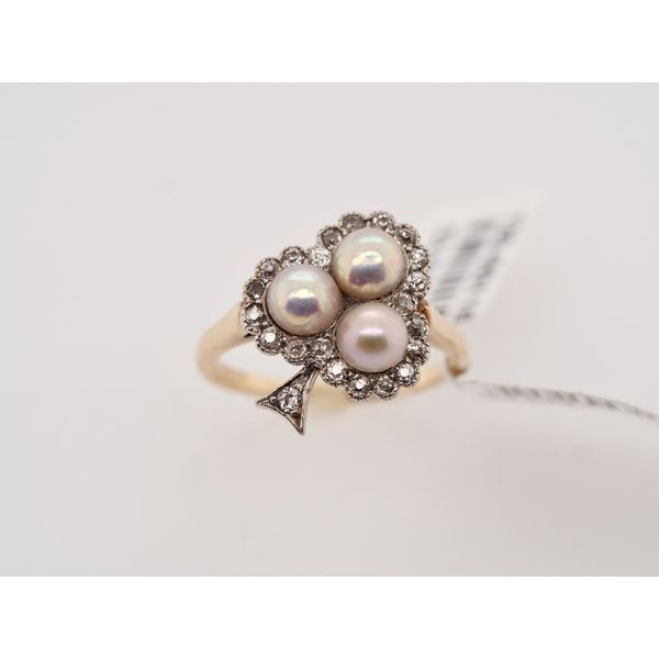 Antique Pearl Diamond Ring Portsches Fine Jewelry Boise, ID