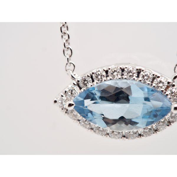 Marquise Aquamarine Necklace  Image 2 Portsches Fine Jewelry Boise, ID