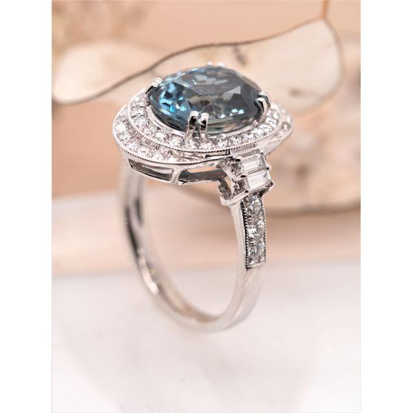 5.84ct Nigerian Sapphire Diamond Ring (no heat)  Image 2 Portsches Fine Jewelry Boise, ID
