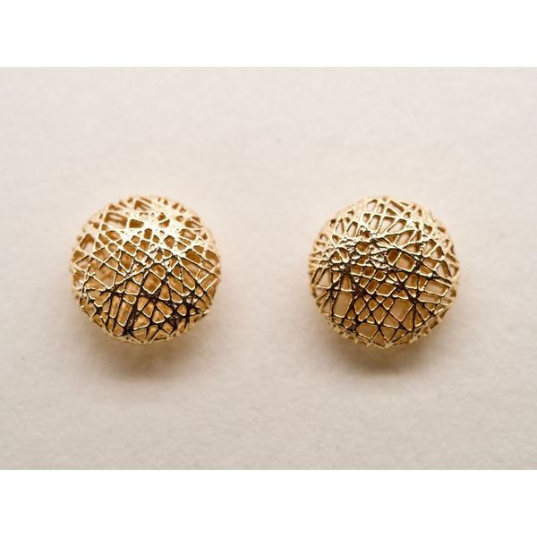 Abstract Gold Wire Round Studs Portsches Fine Jewelry Boise, ID