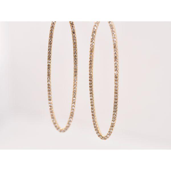Oval Diamond Drop Earrings  Image 3 Portsches Fine Jewelry Boise, ID