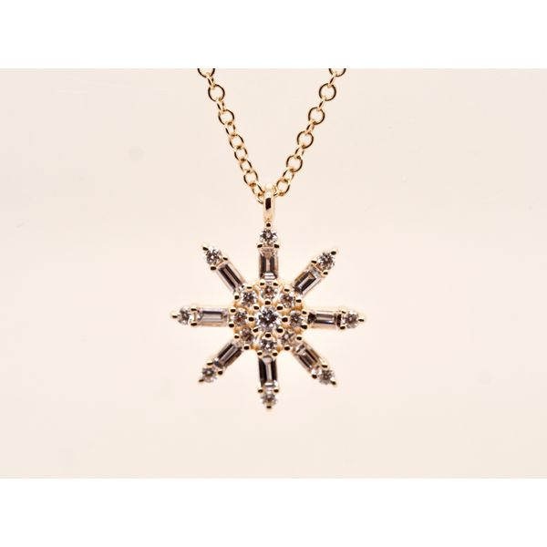 Modern Floral Motif Necklace  Portsches Fine Jewelry Boise, ID