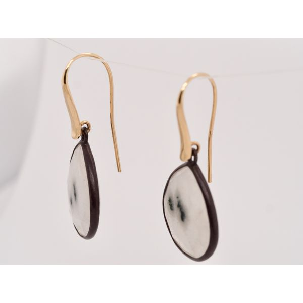 Moss Agate Gold Earrings Image 2 Portsches Fine Jewelry Boise, ID