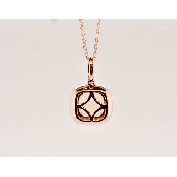 Square Opal Necklace in Rose Gold Image 2 Portsches Fine Jewelry Boise, ID