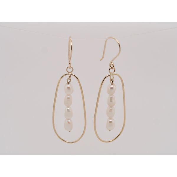 Oval Gold Wire Pearl Earrings  Portsches Fine Jewelry Boise, ID