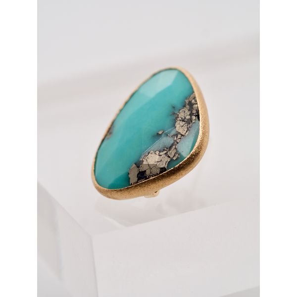 Rose Cut Turquoise Earrings  Image 2 Portsches Fine Jewelry Boise, ID