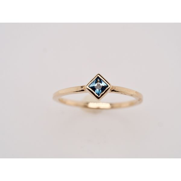 Princess Cut Topaz Stackable Gold Ring Portsches Fine Jewelry Boise, ID