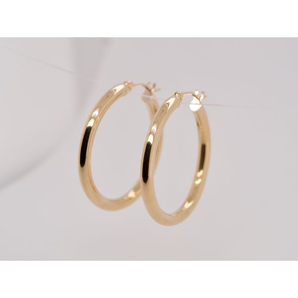 Yellow Gold Tube Hoops  Portsches Fine Jewelry Boise, ID