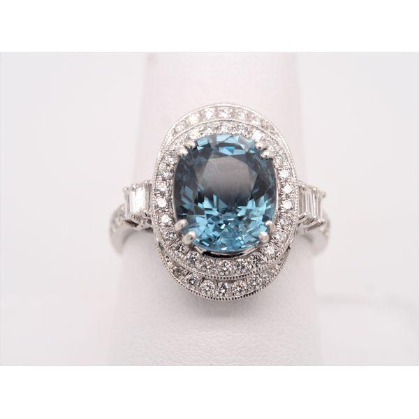 5.84ct Nigerian Sapphire Diamond Ring (no heat)  Portsches Fine Jewelry Boise, ID