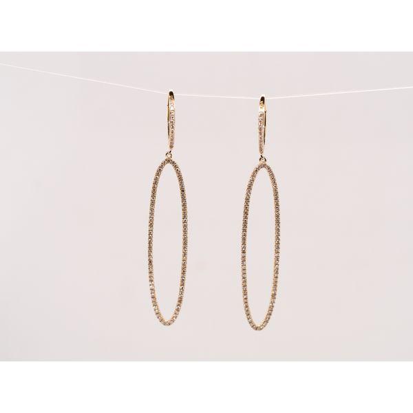 Oval Diamond Drop Earrings  Portsches Fine Jewelry Boise, ID