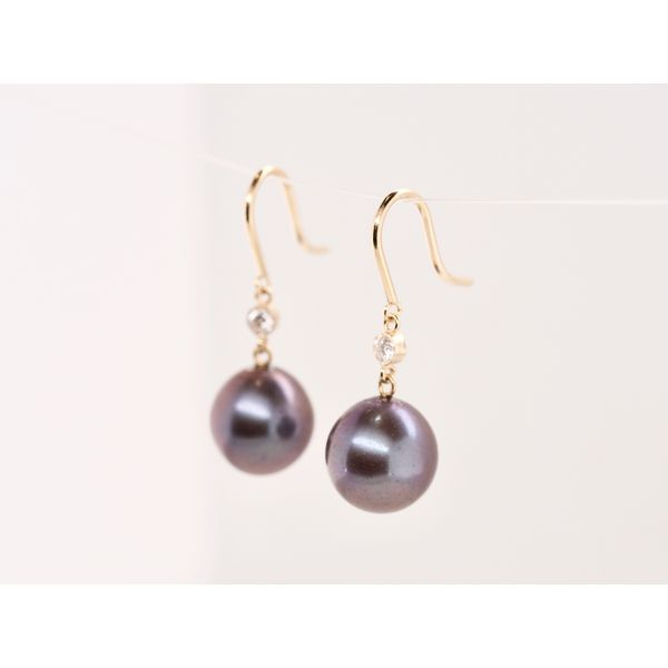 Tahitian Pearl and Diamond Drops  Image 2 Portsches Fine Jewelry Boise, ID