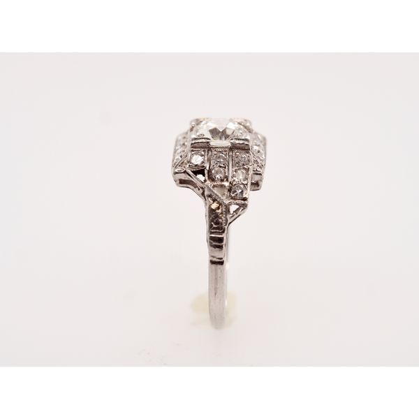 Art Deco Platinum Ring  Image 3 Portsches Fine Jewelry Boise, ID