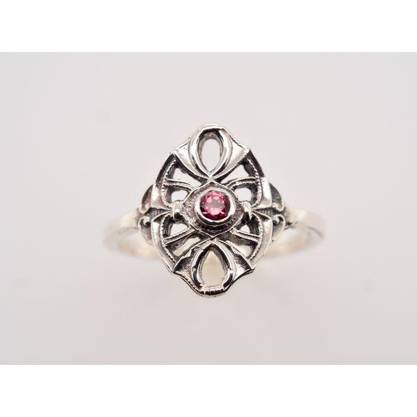 CB009 Garnet Silver Ring Portsches Fine Jewelry Boise, ID