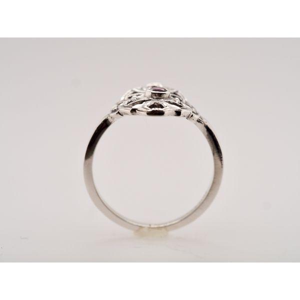 CB009 Garnet Silver Ring Image 2 Portsches Fine Jewelry Boise, ID