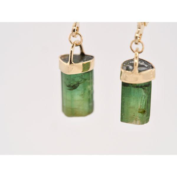 Green Tourmaline Gold Earrings Image 3 Portsches Fine Jewelry Boise, ID
