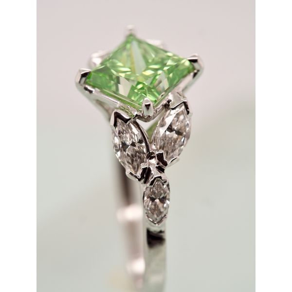 Green Princess Cut Diamond Ring Image 4 Portsches Fine Jewelry Boise, ID