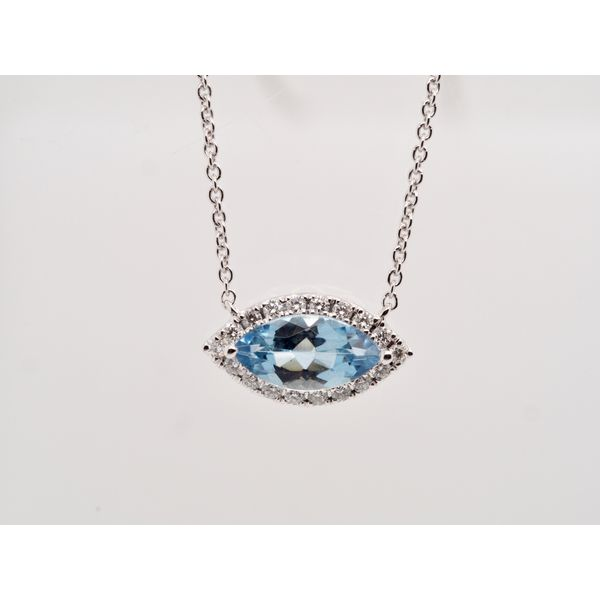 Marquise Aquamarine Necklace  Portsches Fine Jewelry Boise, ID