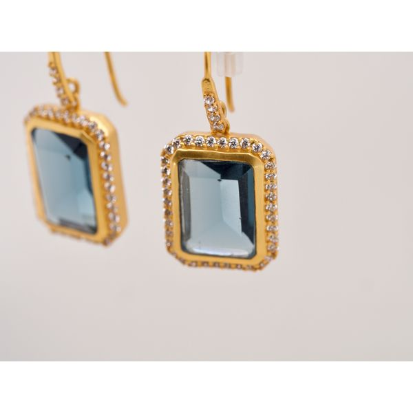 Blue Crystal Drop Earrings Image 2 Portsches Fine Jewelry Boise, ID