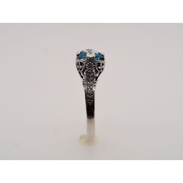 OV008 Topaz Silver Ring Image 3 Portsches Fine Jewelry Boise, ID