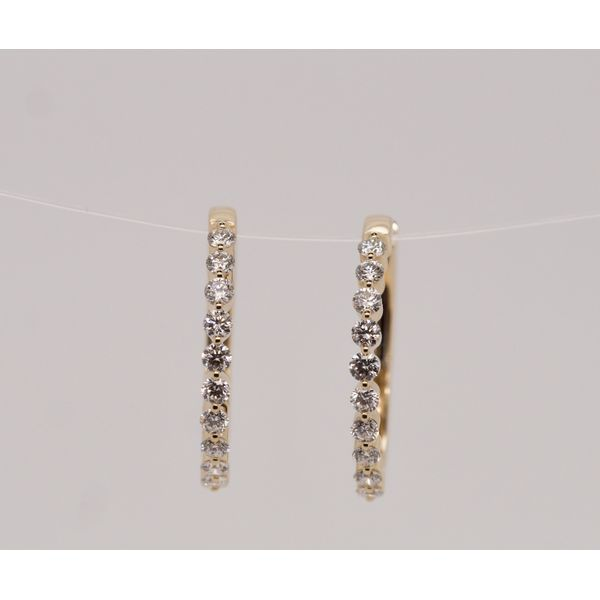 0.50cttw Diamond Scalloped Gold Hoops Portsches Fine Jewelry Boise, ID