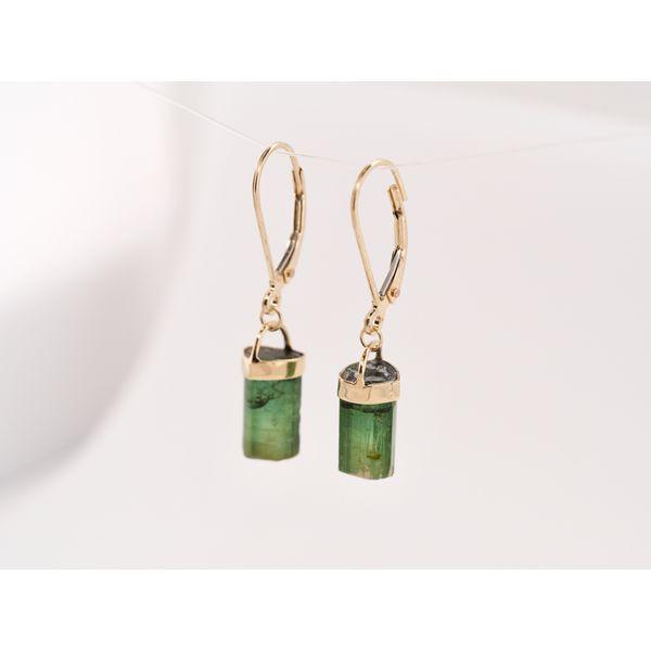 Green Tourmaline Gold Earrings Image 2 Portsches Fine Jewelry Boise, ID