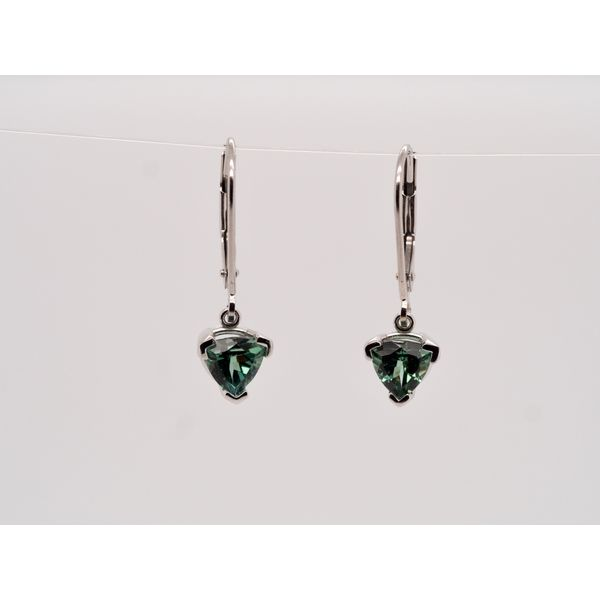 Trillion Tourmaline Drop Earrings  Portsches Fine Jewelry Boise, ID