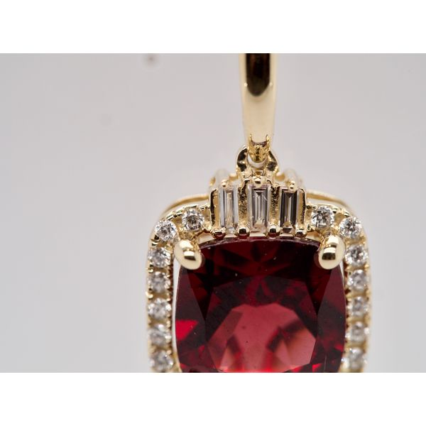Cushion Cut Garnet Necklace with Diamonds Image 2 Portsches Fine Jewelry Boise, ID
