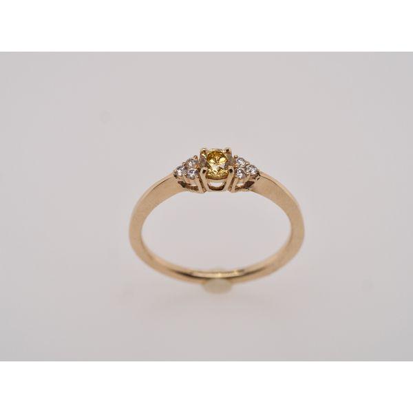 3 Stone Yellow Diamond Center Ring  Portsches Fine Jewelry Boise, ID