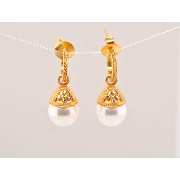 Verona Hoop & Charm Earring Portsches Fine Jewelry Boise, ID