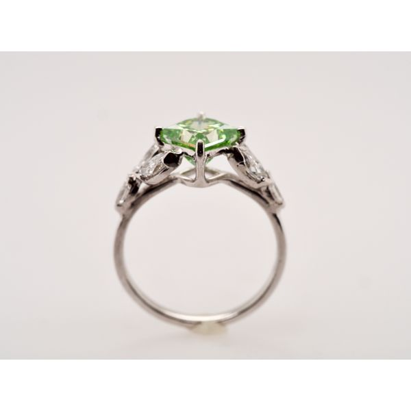 Green Princess Cut Diamond Ring Image 2 Portsches Fine Jewelry Boise, ID