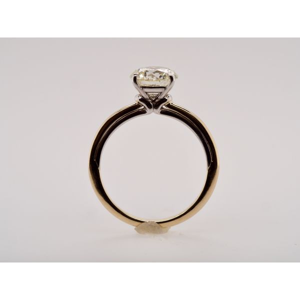 Two Tone 2.02ct Solitaire Engagement Ring Image 2 Portsches Fine Jewelry Boise, ID