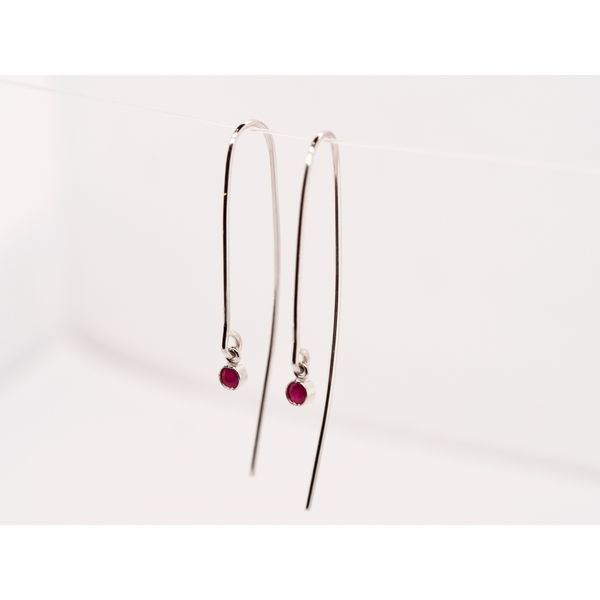 Open Hoop Ruby Earrings  Portsches Fine Jewelry Boise, ID