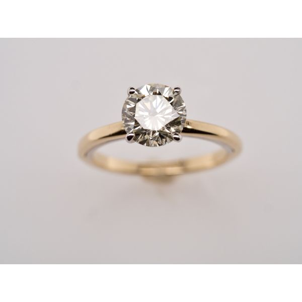 Two Tone 2.02ct Solitaire Engagement Ring Image 3 Portsches Fine Jewelry Boise, ID