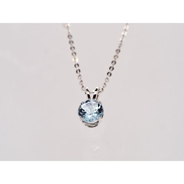 Round Aquamarine Pendant  Portsches Fine Jewelry Boise, ID