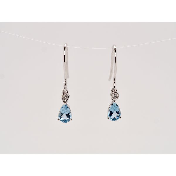 Aquamarine & Diamond Gold Earrings Portsches Fine Jewelry Boise, ID