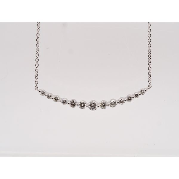 Curved Diamond Necklace  Portsches Fine Jewelry Boise, ID