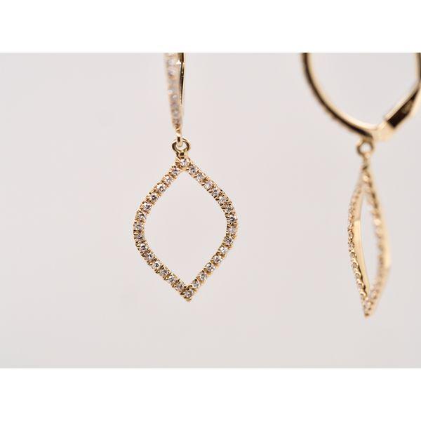 Teardrop Diamond Earrings  Image 3 Portsches Fine Jewelry Boise, ID