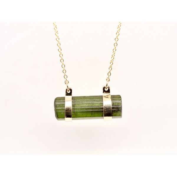 Green Tourmaline Gold Necklace Portsches Fine Jewelry Boise, ID