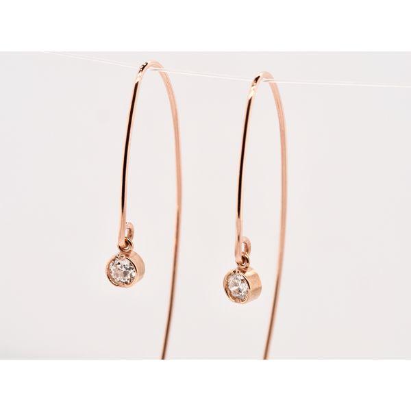 Open Hoop Diamond Earrings  Image 2 Portsches Fine Jewelry Boise, ID