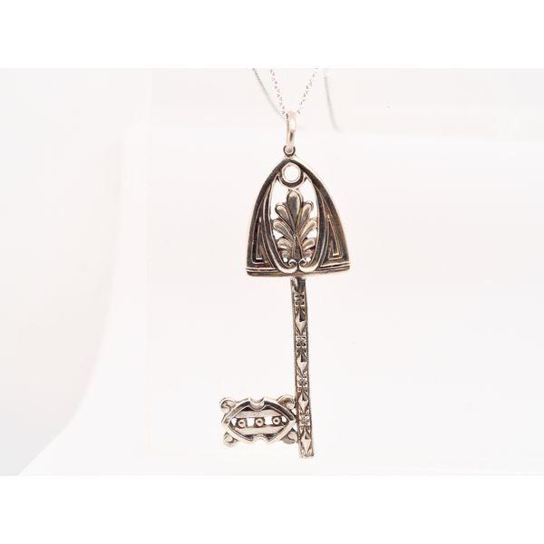 Hugo Kohl Silver Key Pendant  Portsches Fine Jewelry Boise, ID